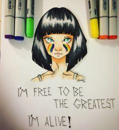 #sia #thegreatest fanart! #art #drawing #copic
