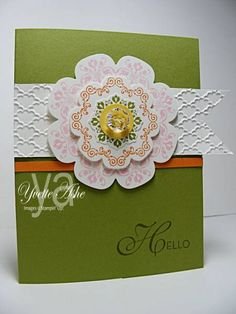 Daydream Medallions Hello by Yvette - Cards and Paper Crafts at Splitcoaststampers