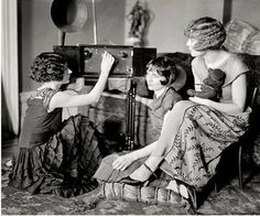 Listening To The Radio. New York, 1924