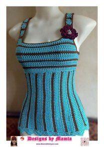 Crochet Tank Top Pattern Women Sleeveless Blouse