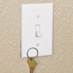 Magnetic Switch Plate makes sure you'll never misplace your keys.