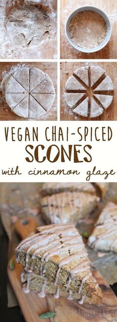Chai Spiced Vegan Scones with Cinnamon Glaze Who loves autumn as much as me? Welcome in the new season with these buttery chai-spiced scones. Click through to get the recipe. Vegan Pastries, Vegan Scones, Vegan Bread, Vegan Muffins, Vegan Butter, Vegan Dessert Recipes, Pastry Recipes, Vegan Sweets, Autumn Recipes Vegan