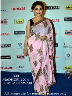 """MADHURI DIXIT BOLLYWOOD SAREE  """"SAREE FABRIC:-Chhiffon BLOUSE FABRIC:-Velvate SAREE COLOR:-Pink BLOUSE COLOR:-Black WORK:-Embroidery""""    #COD(cash On Delivery) Available on Some Pin Codes in India  For More Enquiry: #whatsapp:-)+91 8980077766 or  #Email:info.99shoppers@gmail.com"""