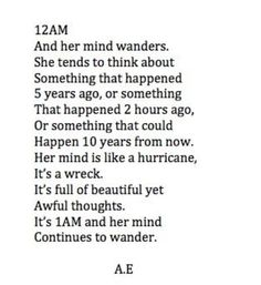 Restless mind.... Happening so often to me, ughh