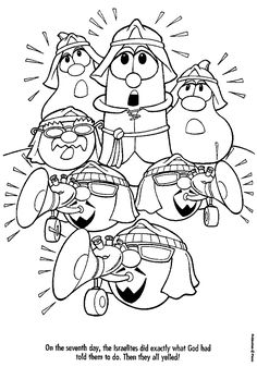 Printable coloring pages veggietales petunia printable for Veggie tales coloring pages