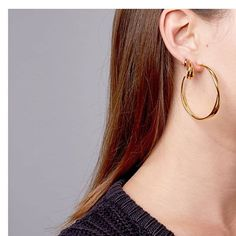 f688e9500 Layering is caring: today's earspiration featuring Twist hoops and a  Cresent min. Dinny Hall