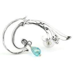 Small Snake Ear Cuff Wrap Gothic Earring Stud w/ Dangle Bead for Left Ear Generic http://www.amazon.com/dp/B00CBPFA48/ref=cm_sw_r_pi_dp_mHfqvb1TYP6K3