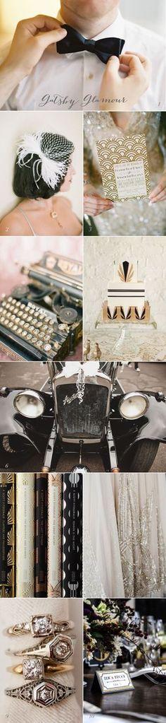 Current Crush Great Gatsby Wedding Inspiration If I don't have a 50s wedding, I shall have a Gatsby Era wedding
