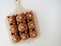 I baked these teddy bear cocoa pull-apart bread buns this morning, and thought I… Japanese Milk Bread, Japanese Sweets, Japanese Meals, Japanese Food, Bread Art, Cute Buns, Pull Apart Bread, Baking Business, Bun Recipe