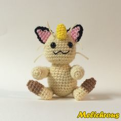 The next Pokemon pattern is Meowth, that's right! Using specified materials will result in a doll with a height of a little over 6 inch...