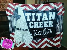 Check out this item in my Etsy shop https://www.etsy.com/listing/203933240/personalized-cheer-team-blanket