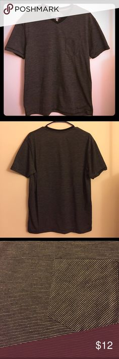 NWOT Black t-shirt with tiny white stripes This t-shirt has never been worn. It was a gift for my boyfriend but he said he doesn't like v-necks. 😔 I love it! Denim & Rivets Clothing Company Shirts Tees - Short Sleeve