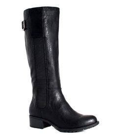 Look what I found on #zulily! Black Chicago Wide-Calf Riding Boot #zulilyfinds