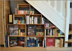 Bibliothèque caisse à vin