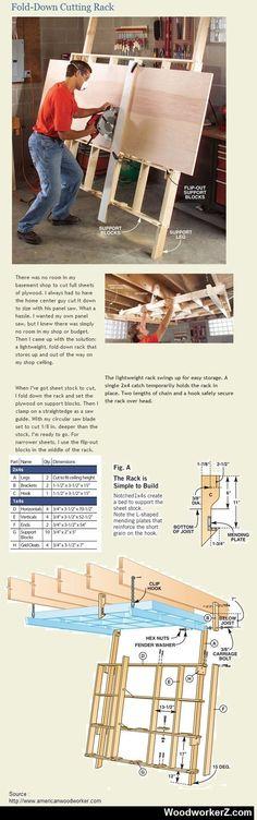 Fold-Down Cutting Rack: