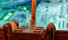 Vista do restaurante do snowland.