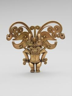 The Tairona people of the Sierra Nevada de Santa Marta in northern Colombia produced some of the grandest and most complex gold objects ever made in the Americas. This pendant is an excellent example of the skill and virtuosity possessed by Tairona goldworkers