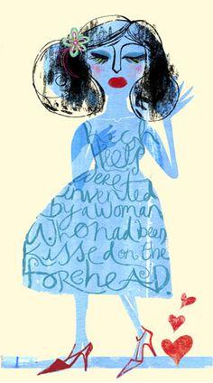 Jill Calder. Love the painted dress with journalling inside