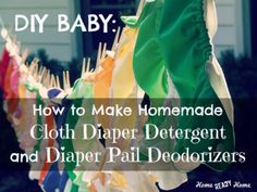 DIY BABY: How to Make Homemade Cloth Diaper Detergent and Diaper Pail Deodorizers (Home Ready Home) I already have a fav cloth diaper detergent but I would love to try the diaper deodorizer Cloth Diaper Detergent, Cloth Nappies, Diaper Pail, Diaper Genie, Do It Yourself Baby, Diy Diapers, Diy Bebe, Cleaners Homemade, Diy Cleaners