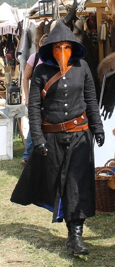 Mens halloween costumes doctor Plague Doctor at medieval festival 2012 by on :