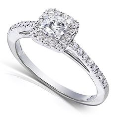Diamond Engagement Ring 1/3 carat (ctw) in 14k White Gold_4.5 ** See it now, it's a great jewelry : Engagement Ring