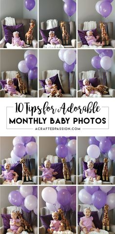 Baby on the way? Document the first year of your little ones life with these 10 tips for adorable monthly baby photos every month! Take note, #9 is key!!