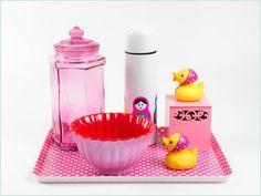 Quartos de bebês moderninhos pedem kits higiene no mesmo estilo! Kits higiene: Coisas da Doris | Fotos: Valentino Fialdini