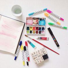 watercolor mess