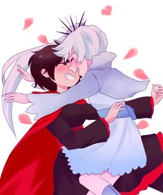White Rose. Weiss and Ruby. RWBY