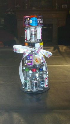 Creative and Unique Birthday Gifts Ideas for Your Boyfriend – Beer Cake Birthday Presents For Him, 21st Birthday Gifts, Unique Birthday Gifts, Birthday Fun, Birthday Ideas, Birthday Basket, Alcohol Gift Baskets, Alcohol Gifts, Alcohol Bouquet