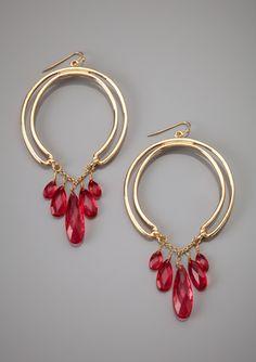 JESSICA SIMPSON Beaded Hoop Earrings