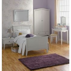 Provence Single Bed Frame - White. at Homebase -- Be inspired and make your house a home. Buy now.