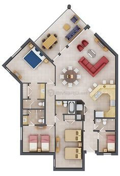 planos de departamentos en 3d