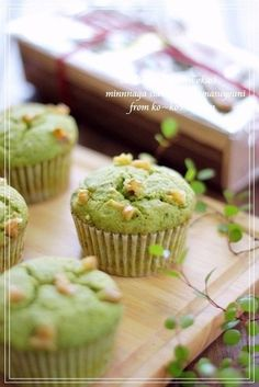 Matcha White Chocolate Muffins