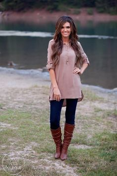 We all need one of those easy throw on and go tops and this button tunic dress…