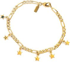 Elegant Gold Plated Bracelet Chain Star Drops  Girl Unique Christmas Gift * Read more  at the image link.