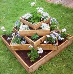 astuce jardin palette fleurs