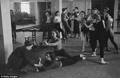 "The Sadler's Wells Company rehearsing ""Orpheus"" under the watchful eye of Ninette de Valois in 1943."