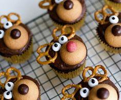 Rudolph cupcakes