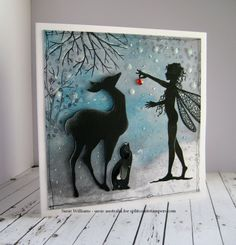 This would be an adorable template/inspiration for a layered paper light box! Hey Rudolph, is this yours? by susie australia - Cards and Paper Crafts at Splitcoaststampers Christmas Post, Christmas Scenes, Christmas Pictures, Christmas Crafts, Xmas Cards, Diy Cards, Card Making Inspiration, Making Ideas, Lavinia Stamps Cards