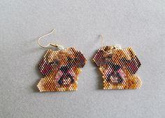 Puggle Earrings in delica seed beads