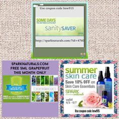 Use coupon code lmw915 to receive an extra 10% off your order. For orders over $55.00 there's free shipping. http://sparknaturals.com/?id=4760