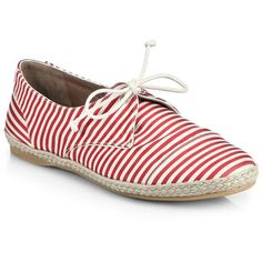 Tabitha Simmons Dolly Striped Grosgrain Espadrille Sneakers ($165) ❤ liked on Polyvore featuring shoes, sneakers, apparel & accessories, lace up shoes, striped shoes, laced up shoes, espadrilles shoes and platform lace up shoes