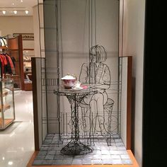 "HERMES,Paris,France, ""You were my cup of tea,but I drink champagne now"", pinned by Ton van der Veer"