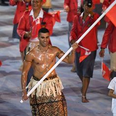 Hot: The Internet Loved Tongas Oiled Up Olympics Flag Bearer