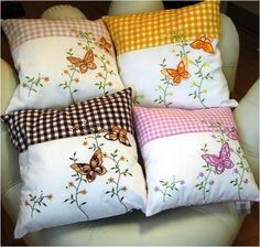 Butterfly scatter cushions