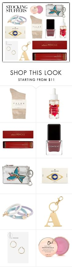 """#PolyPresents: Stocking Stuffers"" by mariannamic ❤ liked on Polyvore featuring Falke, Korres, Sloane Stationery, Context, Sam Edelman, Octaevo, Marc Jacobs, Warehouse, Topshop and Lapcos"