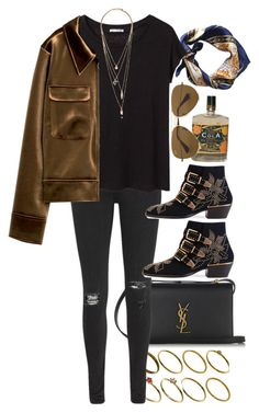 """""""Untitled #9732"""" by nikka-phillips ❤ liked on Polyvore featuring ASOS, Yves Saint Laurent, rag & bone/JEAN, Acne Studios, Chloé, Ray-Ban and Forever 21"""