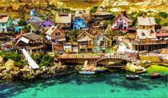 Popeye Village, is a group of rustic and ramshackle wooden buildings located at Anchor northwest coast of the Mediterranean Iceland of Malta ....