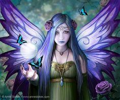 purple butterfly fairy
